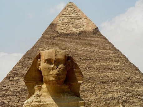 Pyramid of Chephren, Sphinx x