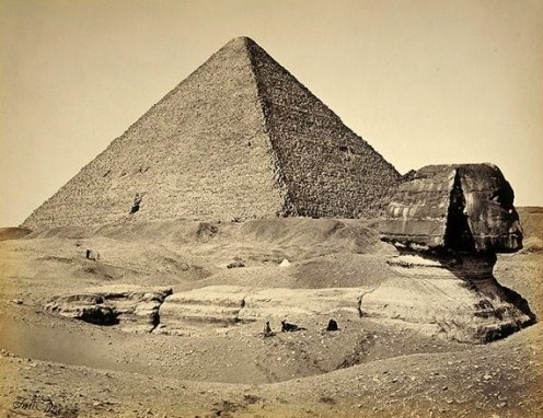 The Great Pyramid and the Spinx (1858) x
